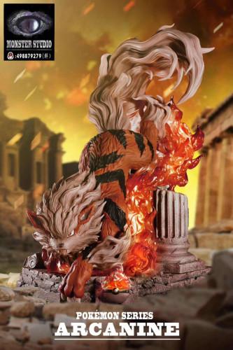 【In Stock】MonsterStudio Pokemon Arcanine resin statue