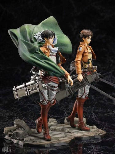 【Preorder】HobbymaxJapan Attack on Titan Eren&Levi PVC statue's post card