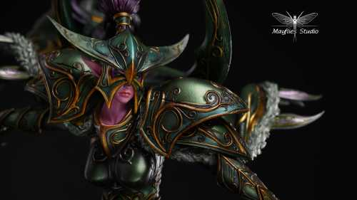 【Preorder】MayFlies Studio Warcraft3 Maiev resin statue's post card