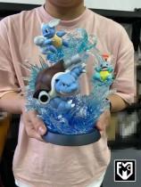 【In Stock】MFC Studio Pokemon The Famliy of Blastoise resin statue
