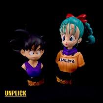 【Preorder】UNPLICK STUDIO Dragon Ball little Goku&Bulma bust's post card