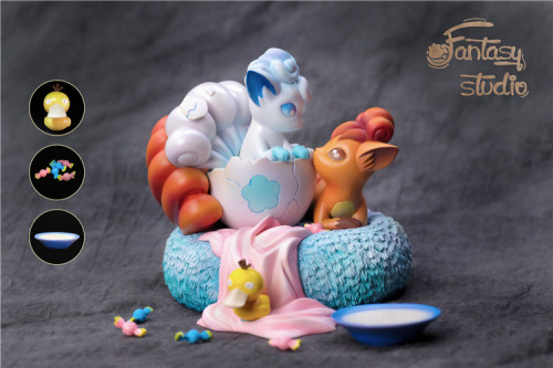 【In Stock】Fantasy Studio Pokemon Fire&Ice six tales resin statue