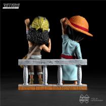 【Preorder】7STARS Studio ONE PIECE Luffy&Usopp resin statue's post card