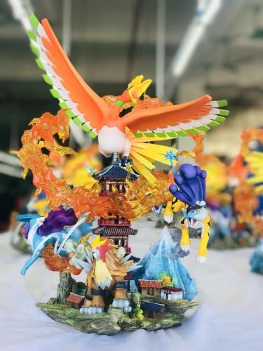 【In Stock】Crescent Studio Pokemon Ho-Oh&Three sacred resin statue