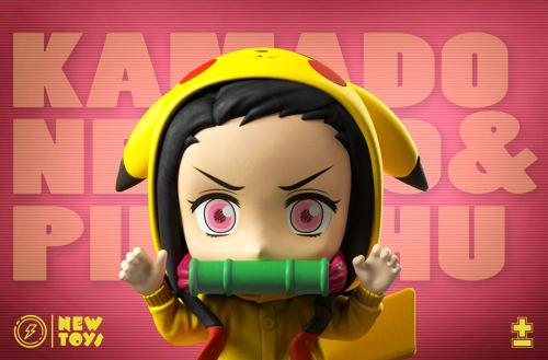 【In Stock】New Toys Studio Demon Slayer Nezuko cosplay Pikachu resin statue