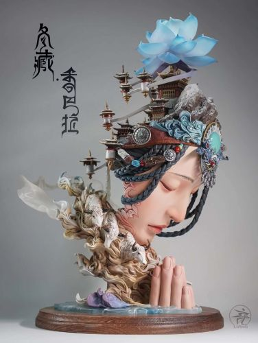 【In Stock】Yuan Xingliang Winter Tibet Shambhala resin statue Colored Version