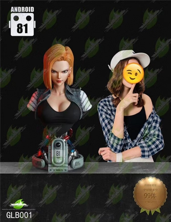【Preorder】Green Leaf Studio Dragon Ball Android 18 1/1 scale bust resin statue's post card