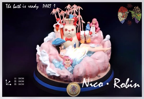 【In Stock】One Piece The bath is ready Nami & Nico·Robin resin statue
