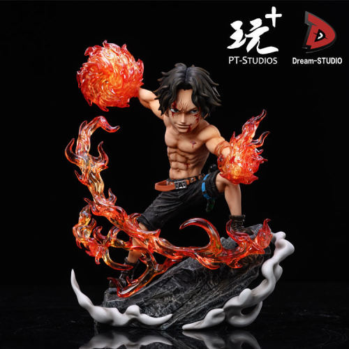 【In Stock】Dream studio & PT studio ONE PIECE Ace Fire fist resin statue