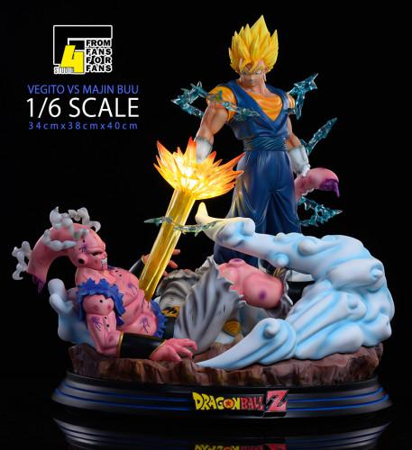 【In Stock】F4 Studio Dragon Ball Vegetto vs Majin Buu resin statue