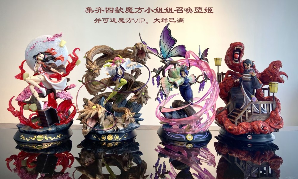 Magic Cube Studio Demon Slayer Kanroji Mitsuri Resonance Series Resin Statue Text sword, toy sword, weapon, toy weapon, blade. magic cube studio demon slayer kanroji