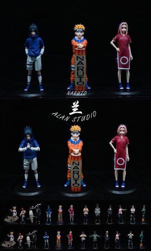 【Preorder】ALAN Studio NARUTO Uzumaki Naruto&Sasuke&Haruno Sakura statue deposot