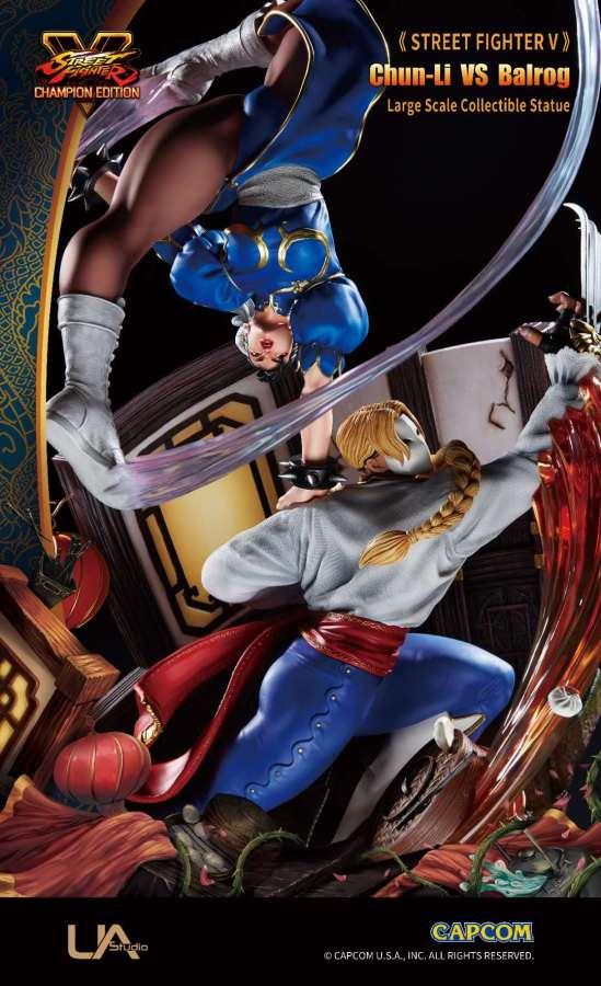 【Preorder】Unique Art Street Fighter V Chun-Li VS Balrog copyright 1/6 scale resin statue's post card