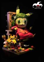 【Preorder】Poker Face Studio Pokemon Pikachu cosplay DC Joaquin Joker resin statue's post card