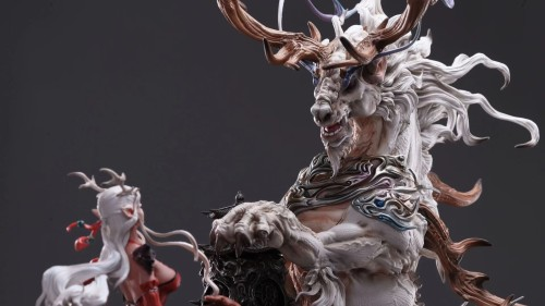 "【Preorder】wuwei studio ''""The deer elves'' resin statue 's post card"