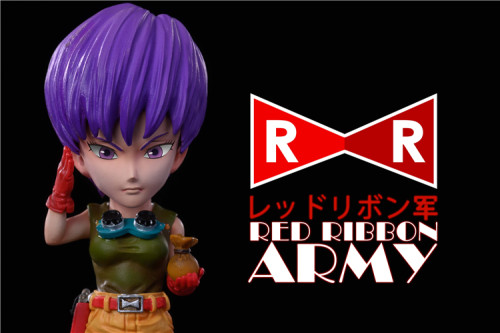 【In Stock】League Studio Dragon Ball Red Ribbon Army series Colonel Violet&Dr.Gero resin statue