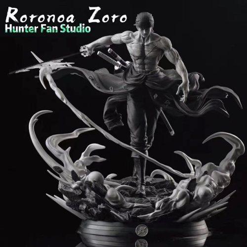 【In Stock】HUNTER FAN Studio One Piece Black and white Zoro Resin Statue