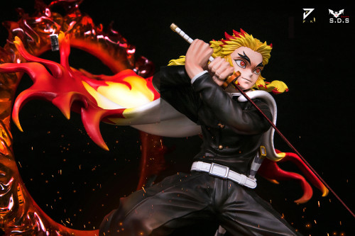 【In Stock】SDS x JIANKE Studio Demon Slayer Rengoku Kyoujurou Resin Statue