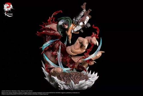 【Preorder】Kitsune Statue Attack on Titan Levi·Ackerman vs The beast titan copyright resin statue's postcard