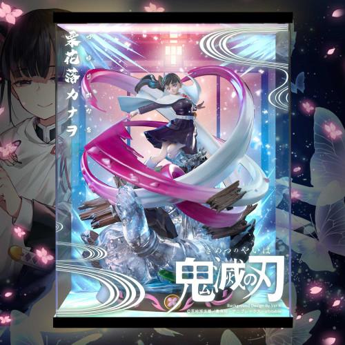 【In Stock】Magic Cube Studio Demon Slayer Tsuyuri Kanawo Statue LED Acrylic Display Box