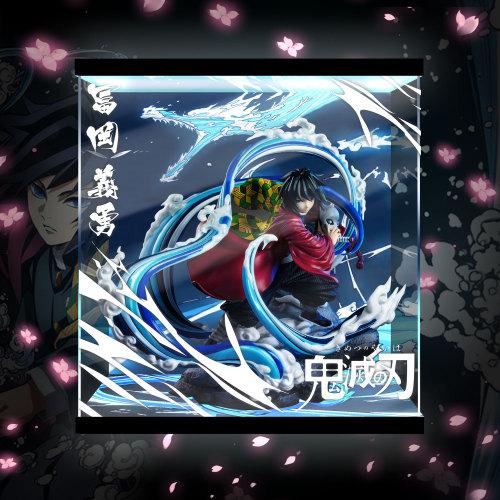 【In Stock】NIREN Studio Demon Slayer Tomioka Giyuu Statue Acrylic Display Box