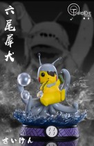 【Preorder】ThirdEye Studio Pokemon Pikachu Cosplay Naruto Bijuu Resin Statue's post card