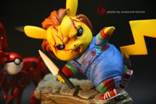 【In Stock】Crescent Studio Pokemon Pikachu cosplay Child's Play resin statue