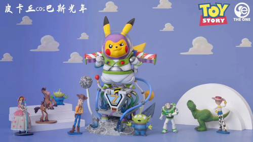 【In Stock】The One Studio Pokemon Pikachu cosplay Toy Story Buzz Lightyear Resin Statue