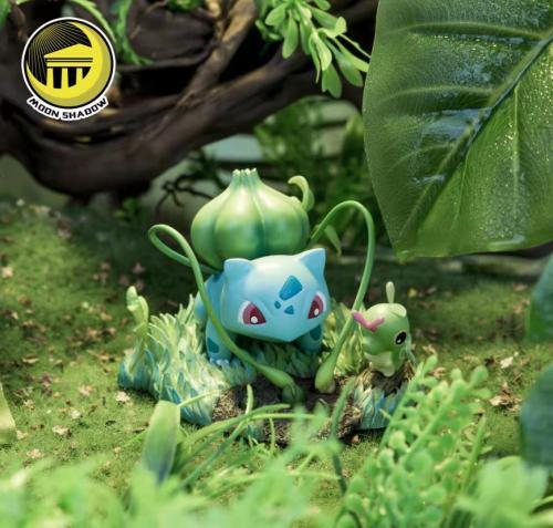 【In Stock】Moon Shadow Pokemon Venusaur & Bulbasaur Resin Statue