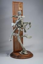 【Preorder】Yuan Xingliang Plum Orchid Bamboo Chrysanthemum Grey version resin statue's Post Card