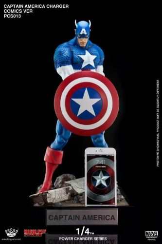 【In Stock】King Arts x High Fly Studio Marvel Captain America Power charging series Resin Statue