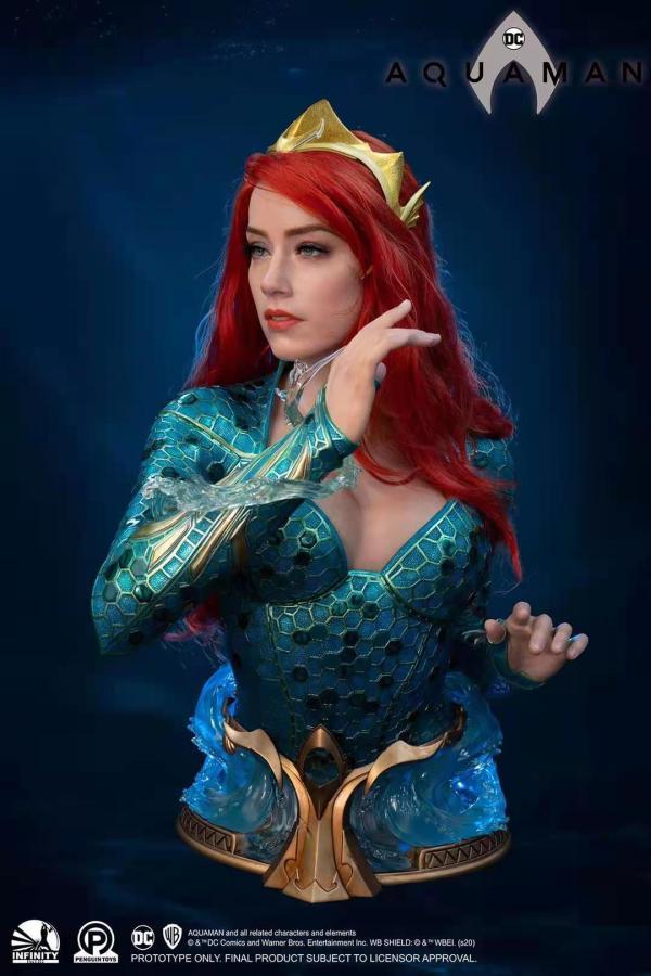 【Preorder】INFINITY Studio DC Aquaman Mera Bust Statue's Postcard