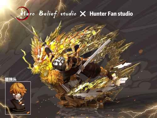 【In Stock】Hero Belief&Hunter Fan Studio Demon Slayer Zenitsu resin statue