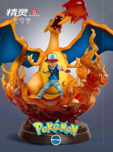 【Preorder】M3 Studio Pokemon Ash Ketchum&Charizard Resin Statue's Postcard