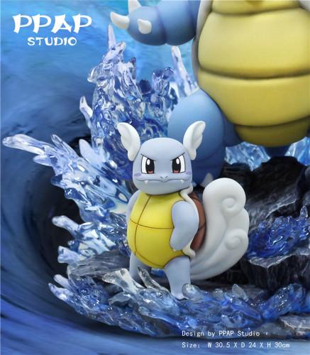 【In Stock】PPAP Studio Pokemon Blastoise family resin statue