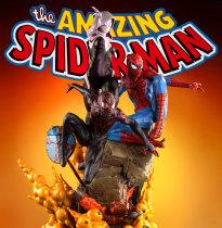 【Preorder】Queen Studio Marvel Spider-Man Combination Peter&Gwen&Miles Copyright Resin Statue's Postcard
