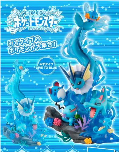 【Preorder】MegaHouse Pokemon Water type Totodile & Mudkip PVC Statue's Postcard