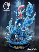 【Preorder】Egg Studio Pokemon Greninja Three Stages of Evolution Resin Statue's Postcard