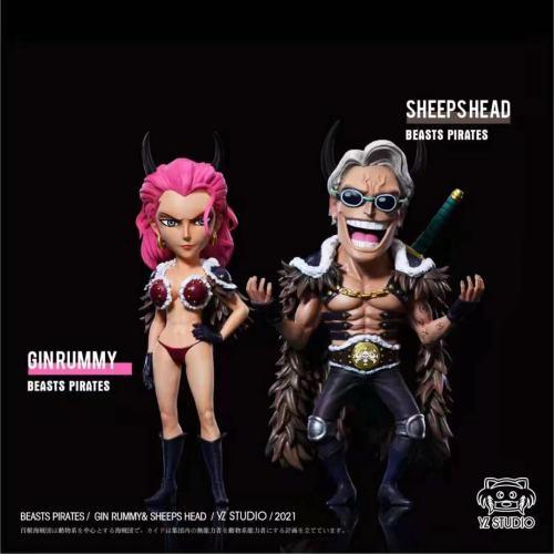 【In Stock】YZ Studio ONE PIECE Beasts Pirates Ginrummy&Sheepshead Resin Statue