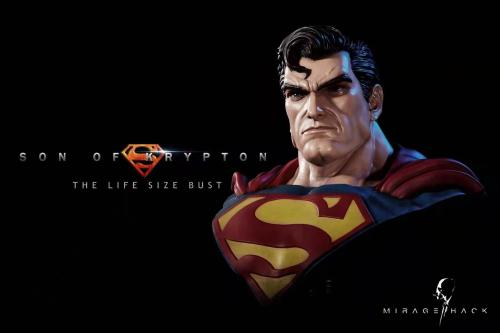 【In Stock】Mirage Hack Studio DC Superman 1/1 Scale Bust Resin Statue