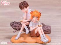 【Preorder】CHIKARA Studio GIRLS Series Card Captor Kinomoto Sakura&Li Syaoran Resin Statue's Postcard