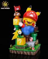 【In Stock】Sun Studio Pokemon Pikachu cosplay Super Mario Resin Statue