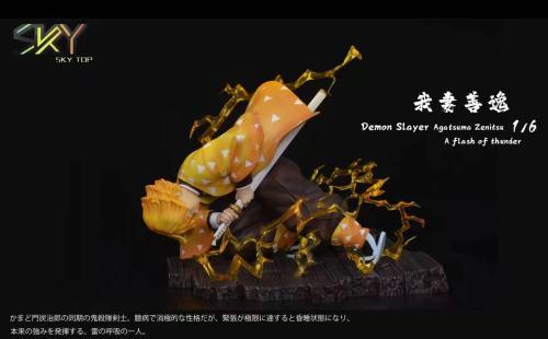 【In Stock】Sky Top Studio Demon Slayer Agatsuma Zenitsu A Flash of Thunder Resin Statue