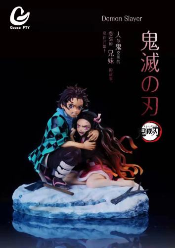 【Preorder】Goose Factry Demon Slayer Embracing in the Snow Tanjirou&Nezuko Resin Statue's Postcard