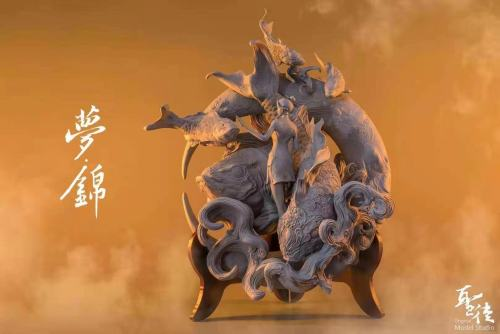 【Preorder】Original Model Studio Dream of Carp Resin Statue's Postcard