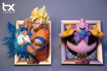 【Preorder】TX Studio Dragon Ball Photo Frame Series Goku&Buu Resin Statue's Postcard