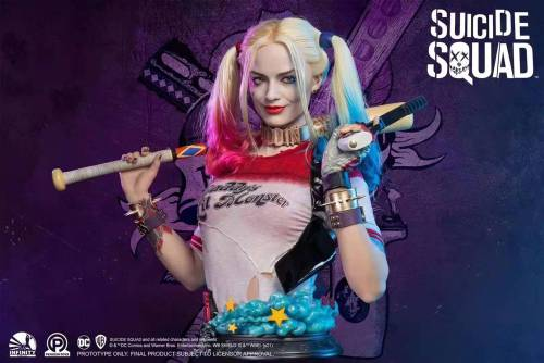 【Preorder】Infinity Studio DC Series Life Size Bust Suicide Squad Harley Quinn's Postcard