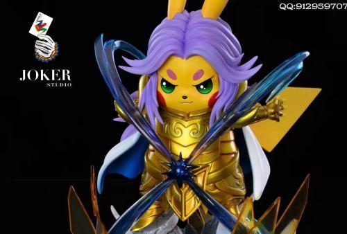 【Preorder】Joker Studio Pikachu cosplay Saint Seiya Aries Mu Resin Statue's Postcard