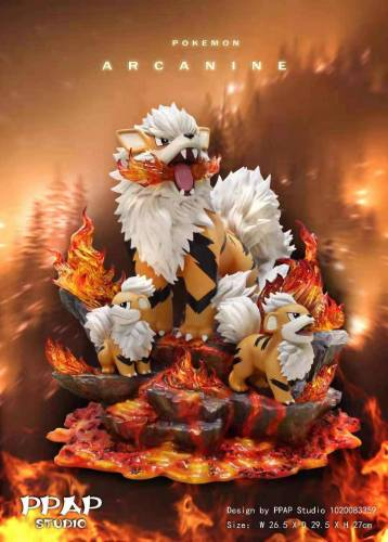 【Preorder】PPAP Studio Pokemon Arcanine Family Resin Statue's Postcard