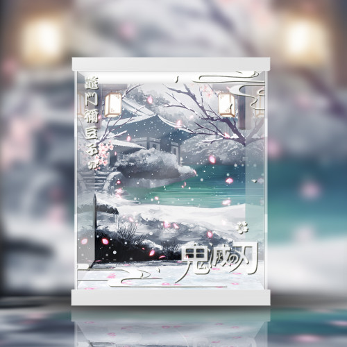 【In Stock】UP Art Studio & MINI Studio Demon Slayer Nezuko Resin Statue Acrylic Display Box